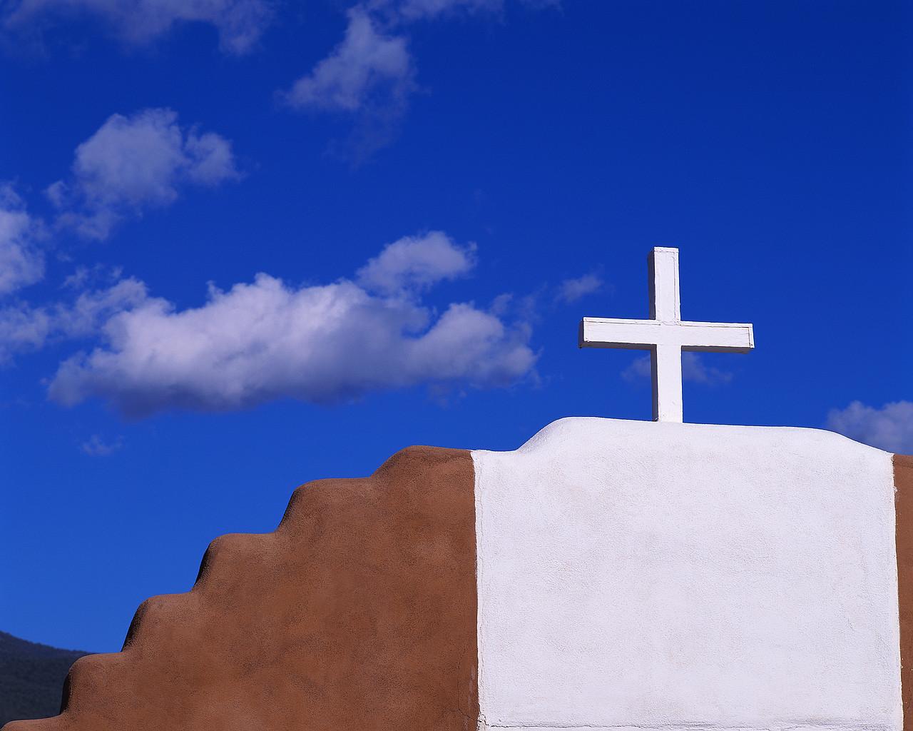 Cross on Church and Sky